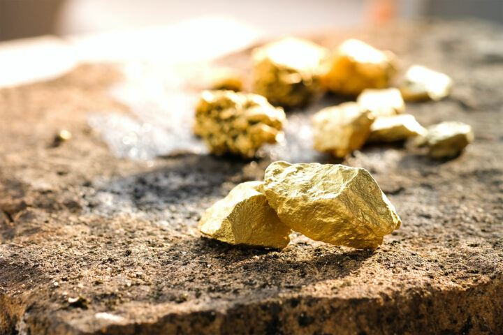 Mined Gold Ore